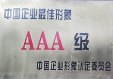 中国企业最佳形象AAA级认定